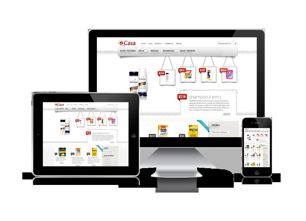 loja virtual supermercado E-Casa