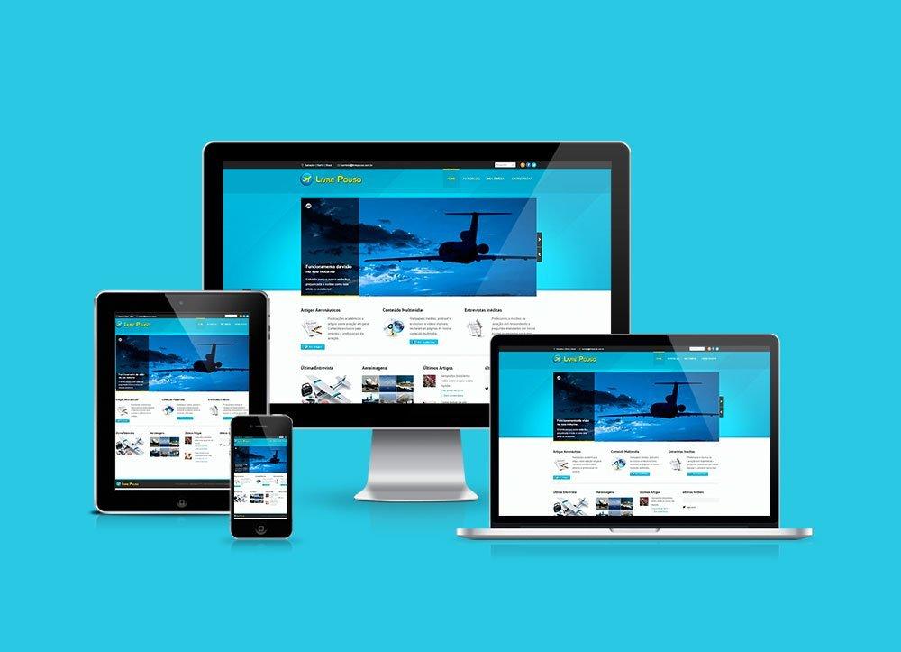 Website Aeronáutico Livre Pouso