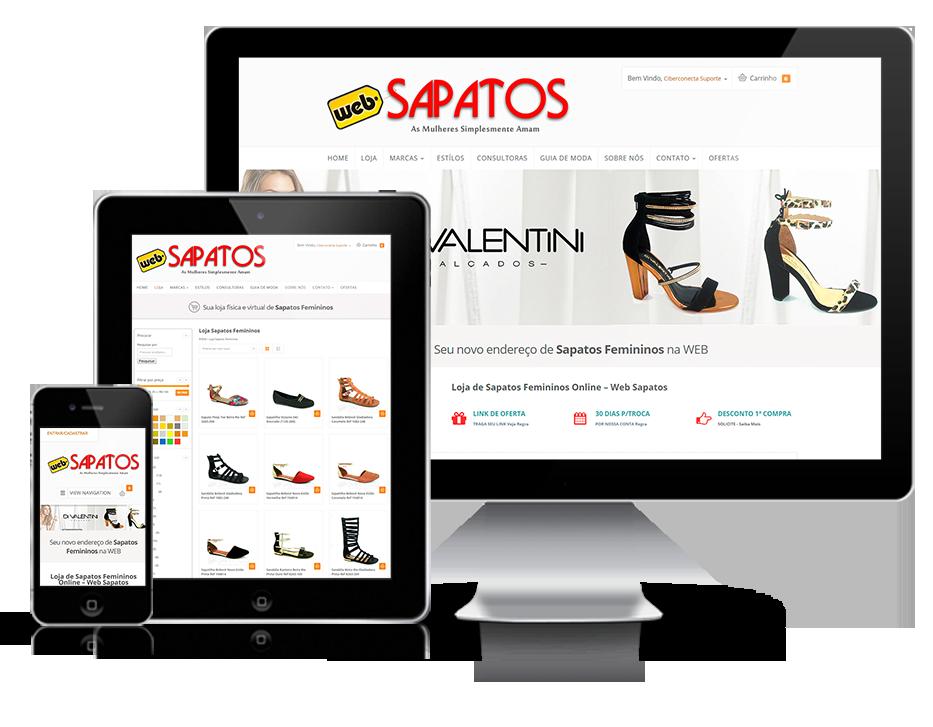 Web design responsivo E-Commerce Web Sapatos