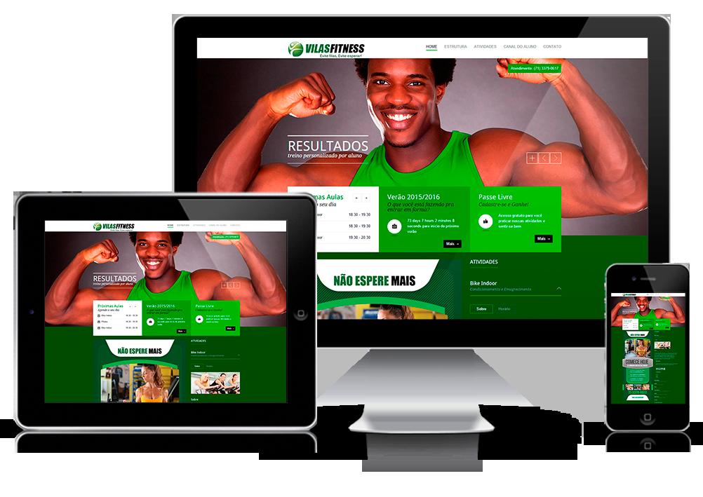 Responsivo Website Academia Vilas Fitness