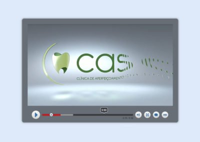 Vinheta de abertura e encerramento de vídeos da Clínica CASO